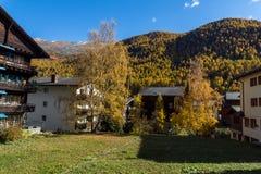 策马特,瑞士- 2015年10月27日:策马特手段,瑞士惊人的看法  库存照片