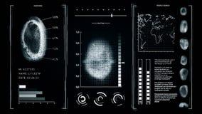 筛选指纹扫描,接口查寻指纹人深灰颜色 影视素材