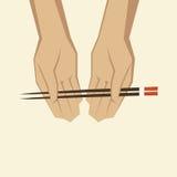 筷子使用 库存照片