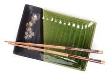 筷子倒空牌照 库存照片