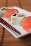 筷子寿司 免版税库存图片