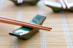 筷子席子表 免版税库存图片