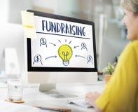 筹款的资本捐赠资金支持概念 免版税库存图片