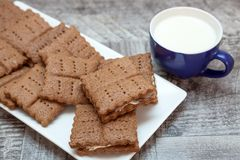 筹码可口巧克力的曲奇饼 免版税库存图片
