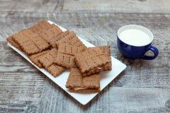 筹码可口巧克力的曲奇饼 库存照片