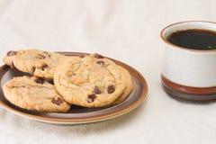 筹码巧克力咖啡曲奇饼 免版税库存照片