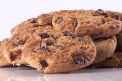 筹码巧克力曲奇饼堆 免版税图库摄影