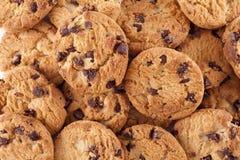 筹码巧克力曲奇饼堆 免版税库存图片