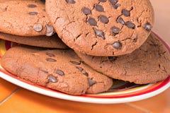 筹码巧克力曲奇饼 库存图片