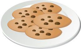 筹码巧克力曲奇饼 向量例证