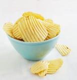 筹码查出土豆白色 免版税库存照片