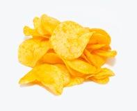 筹码查出土豆白色 免版税图库摄影