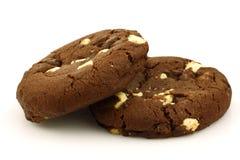 筹码胡说巧克力的曲奇饼 库存照片