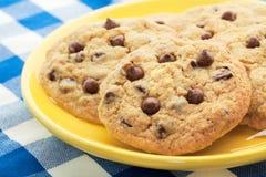 筹码自创巧克力的曲奇饼 图库摄影