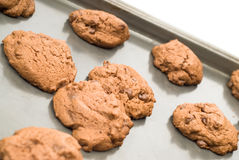 筹码自创巧克力的曲奇饼 库存图片