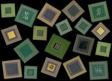 筹码计算机cpu处理器 图库摄影
