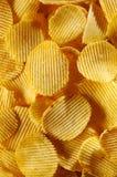 筹码详述油煎的土豆 免版税库存图片