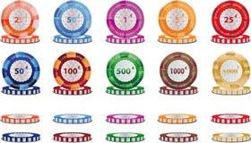 筹码赌博的啤牌 向量例证