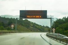 签到egnatia高速公路 库存图片