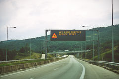 签到egnatia高速公路 免版税库存照片