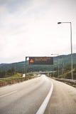 签到egnatia高速公路 免版税图库摄影