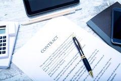 签合同 免版税库存照片