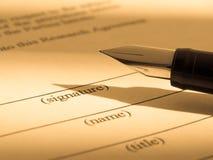 签名 免版税图库摄影