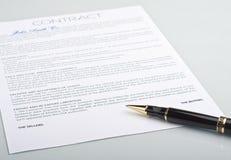 签字的不是合同笔 免版税图库摄影