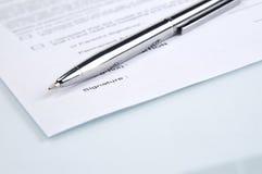 签字 免版税库存照片