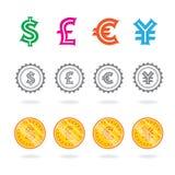 签署世界货币 免版税库存图片