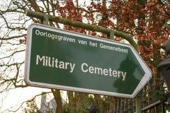 签署军事公墓富兰德fileds比利时世界大战 免版税库存图片