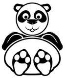 签署向量 熊猫 免版税库存图片