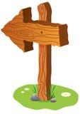 签署木 免版税库存图片