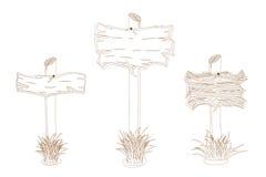签署木 免版税图库摄影