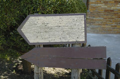 签署木 免版税库存照片