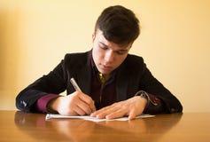 签署本文 免版税库存照片