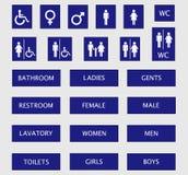 签署洗手间 免版税图库摄影