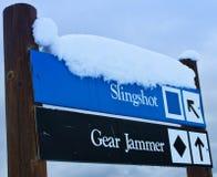签署滑雪 库存照片