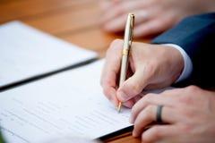 签署的合同 图库摄影