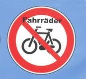 签署禁止停车自行车 图库摄影