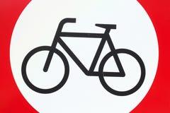 签署禁止停车自行车 库存照片