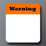 签署警告 库存照片