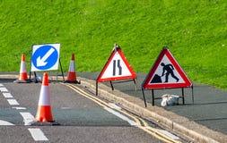 签署道路工程 库存照片