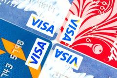 签证信用卡 库存照片