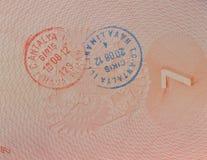 签证向土耳其 免版税图库摄影