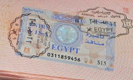 签证向埃及 库存图片