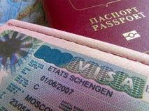 签证申根护照 图库摄影