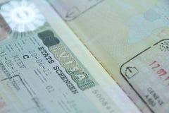 签证 库存图片
