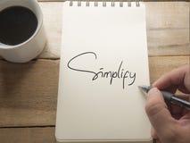 简化,诱导企业词行情概念 免版税图库摄影