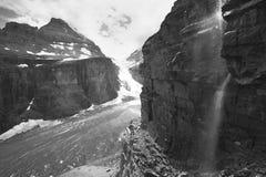 简单六冰川在落矶山 加拿大 免版税图库摄影